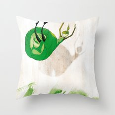 Lettuce Woman Throw Pillow