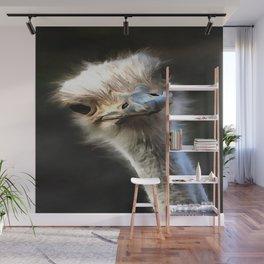 Ostrich Head Wall Mural