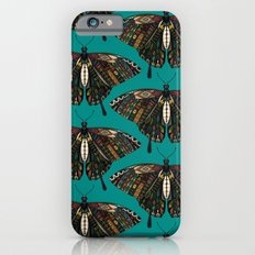 swallowtail butterfly teal Slim Case iPhone 6s
