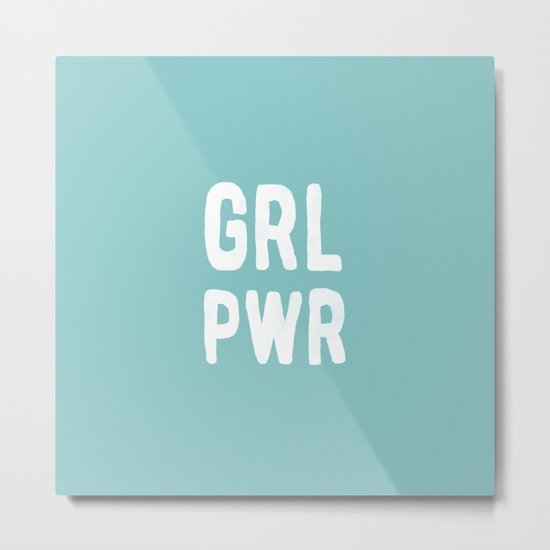 GRL PWR (Blue) Metal Print