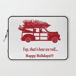 Happy Holidays Woody Laptop Sleeve