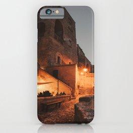 sassi di matera at night iPhone Case