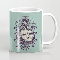 death Mugs featuring Mrs. Death by Enkel Dika