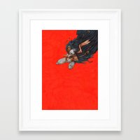 birdman Framed Art Prints featuring Birdman by Anna Landin