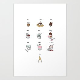 Parks and Rec Ice Cream Art Print