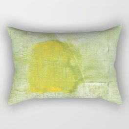 Green abstract aquarelle painting Rectangular Pillow