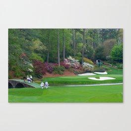 Golf's Amen Corner Augusta Georgia - Golfers on Bridge Canvas Print