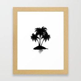 Small island silhouette Framed Art Print