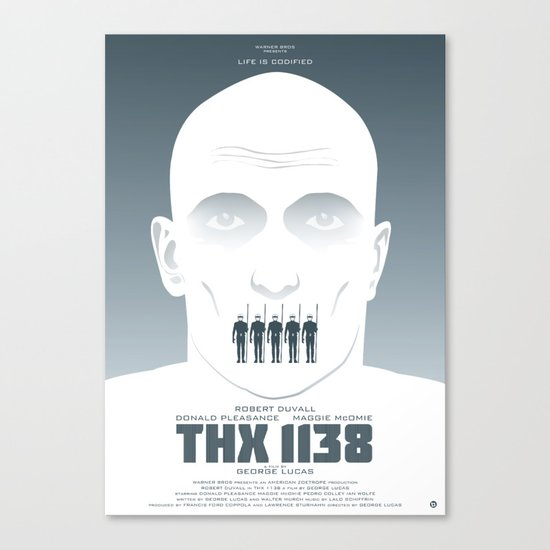 GEORGE LUCAS' THX 1138 Canvas Print