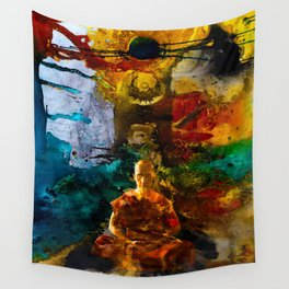 Monk Trip Wall Tapestry