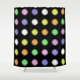 Rainbow Fuzz Shower Curtain