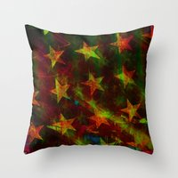 american flag Throw Pillows featuring American Flag by Ganech joe