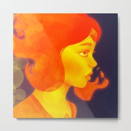 Fire Girl Metal Print