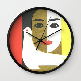 Vintage Russian Poster, USSR Soviet Union International Women's Day by Juozas Galkus 1968 Wall Clock