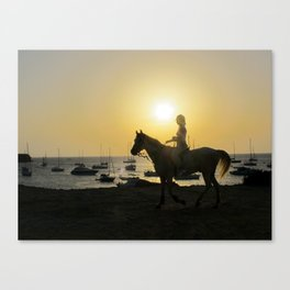 Judy and the Dream of Horses Canvas Print
