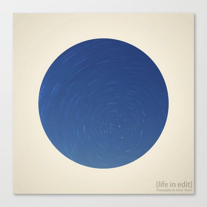 Circular Polaris & Star Trails Canvas Print