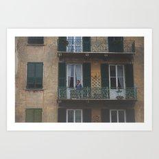 Italy Balcony Art Print