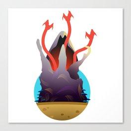 Graboid Tremor Underground Monster Sandworm Canvas Print