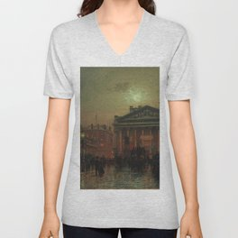 Mansion House, Kings Coronation Eve, London, England by Louis H. Grimshaw Unisex V-Neck
