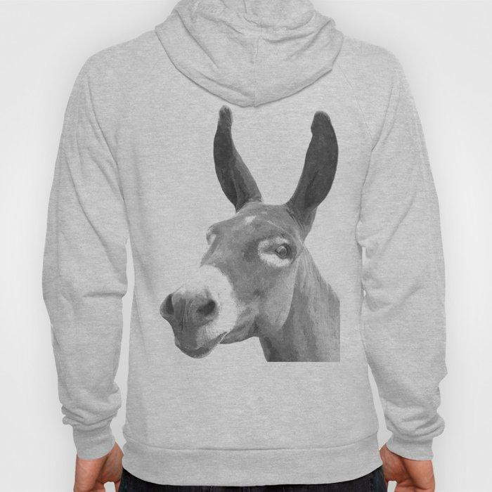 Black and white donkey Hoody