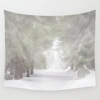 switzerland Wall Tapestries featuring Enchanted forest by UtArt