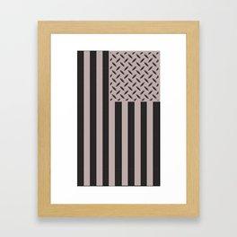 Plated Flag Framed Art Print