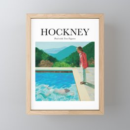 Hockney - Pool with Two Figures Framed Mini Art Print