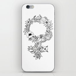 Feminist Flower  2.0 iPhone Skin