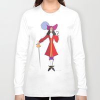 captain hook Long Sleeve T-shirts featuring Captain Hook by AmadeuxArt