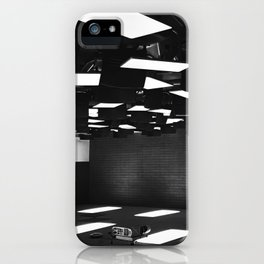 High Contrast Black and White modern day classroom iPhone Case