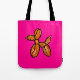 Doggy - orange & pink Tote Bag