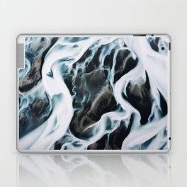 Aerial of an abstract River in Iceland Laptop & iPad Skin