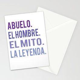 Funny Abuelo The man The myth The legend gift design Stationery Cards