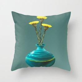 Tussilago Farfara - Spring Light Throw Pillow