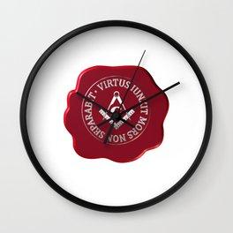 Masonic wax seal Wall Clock