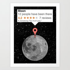 If moon was a place Art Print