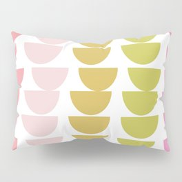 Geometric Kitchen Bowls in Pink, Chartreuse, and Green Pillow Sham