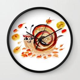 Beautiful Watercolor Autumn Element Wall Clock