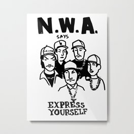 NWA - Express Yourself! Metal Print