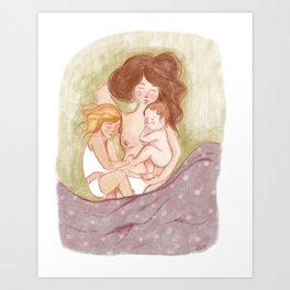 Mama Naps Art Print
