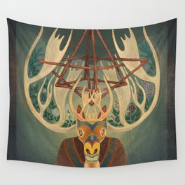 The Father Moose Wall Tapestry