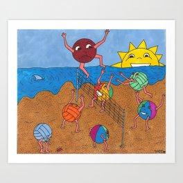 Lets get the kickball! Art Print