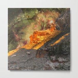 Sacred Mountains (galaxy sky) Metal Print