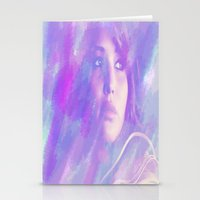 jennifer lawrence Stationery Cards featuring Jennifer Lawrence by Maria Renee
