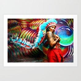 HVH Zebi  Art Print