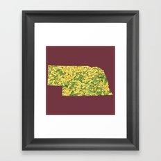 Nebraska in Flowers Framed Art Print