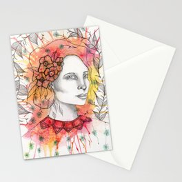 Floral Lady 2 Stationery Cards