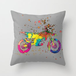 ap127-5 Motorcycle Throw Pillow