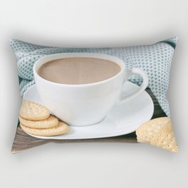Coffee with milk and cookies Rectangular Pillow