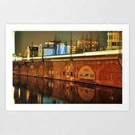 NIGHTTRAIN - RIVERSIDE - BERLIN Art Print